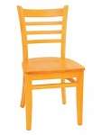 Wood Restaurant Ladder Back Chair with pad