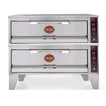 ARSD-6062-BL Stonebake Pizza Oven, gas, double deck, (8) cast iron burners