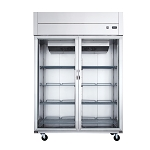 Dukers D55AR-GS2 Top Mount Glass 2-Door Commercial Reach-in Refrigerator