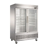 Dukers D55R-GS2 Bottom Mount Glass 2-Door Commercial Reach-in Refrigerator