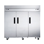 Dukers D83ARF Top Mount Dual Zone 3-Door Commercial Reach-in Refrigerator & Freezer