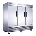 Dukers D83F 3-Door Commercial Freezer in Stainless Steel