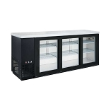 Dukers DBB72-S3 3 Door Bar and Beverage Cooler (Sliding Doors)