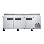 Dukers DPP90 Pizza Prep Table, three-section, 90