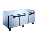 Dukers DUC72F 3-Door Undercounter Commercial Freezer in Stainless Steel