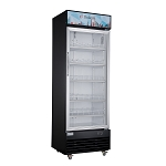 Dukers LG-430 Commercial Single Swing Door Glass Merchandiser Refrigerator