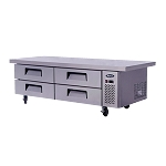 Atosa MGF8454  Chef Base with Extended Top, two- section,(4) drawers