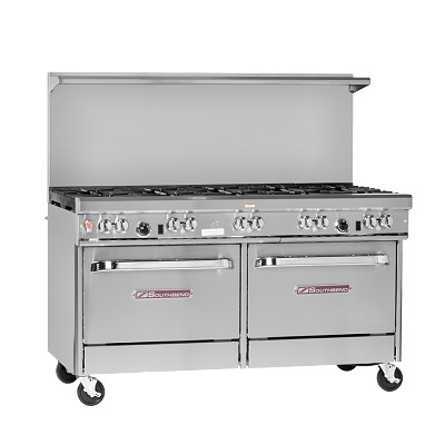 "SOUTHBEND 4601DD Ultimate Restaurant Range, gas, 60"", (10) non-clog burners,"