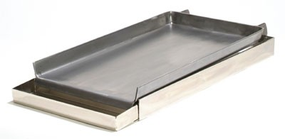 "2-BURNER COMM'L. GRIDDLE TOP WITH GREASE TRAY, 12""x24"""