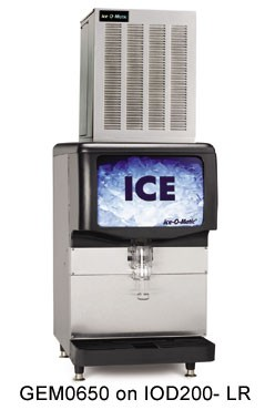 ICE-O-MATIC, GEM0650W, Pearl Ice Maker, water-cooled, 715 lb