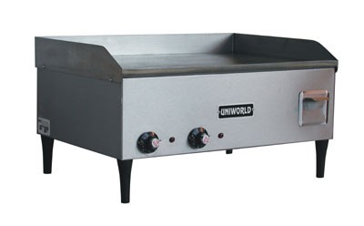 "25"" H.D.  GRIDDLE, 220V,  DUAL THERMOSTAT"