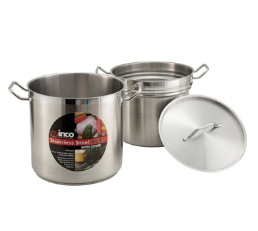 S/S DOUBLE BOILER 16 QT W/COVER