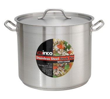 "S/S STOCK POT 16 QT W/COVER 11""x9 7/8"""
